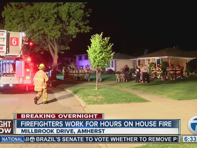 Fire damages Millbrook Drive home overnight
