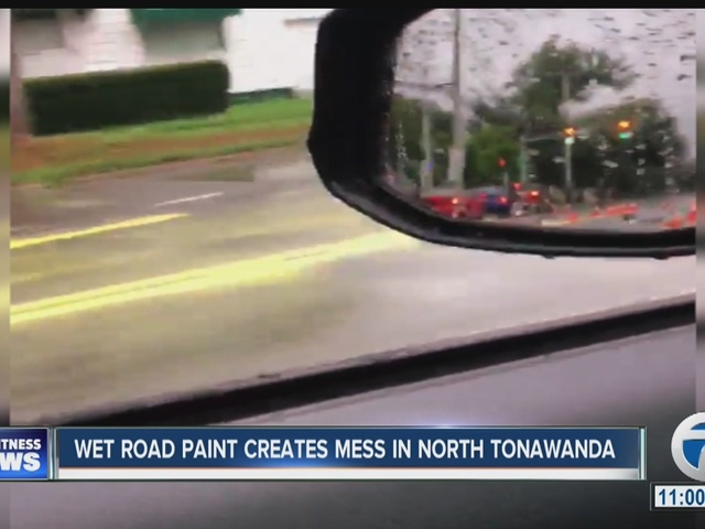Yellow paint causes messy morning commute in N.T.
