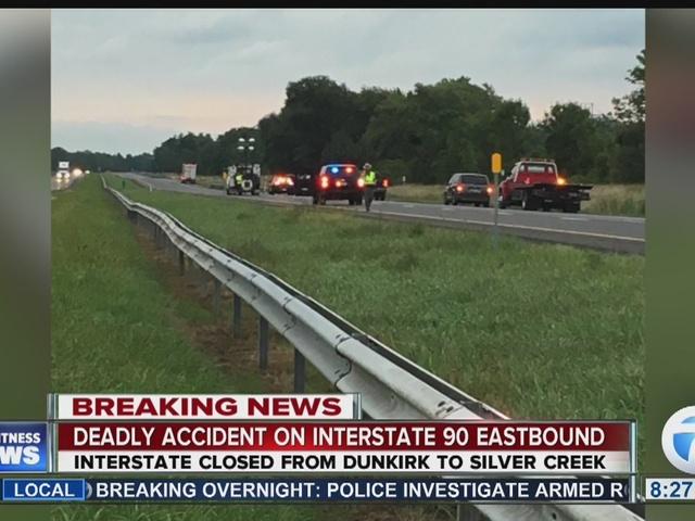 90 Eastbound back open after deadly crash