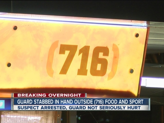 Guard stabbed at 716 Restaurant