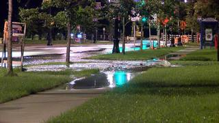 Water main break near Albright-Knox Art Gallery