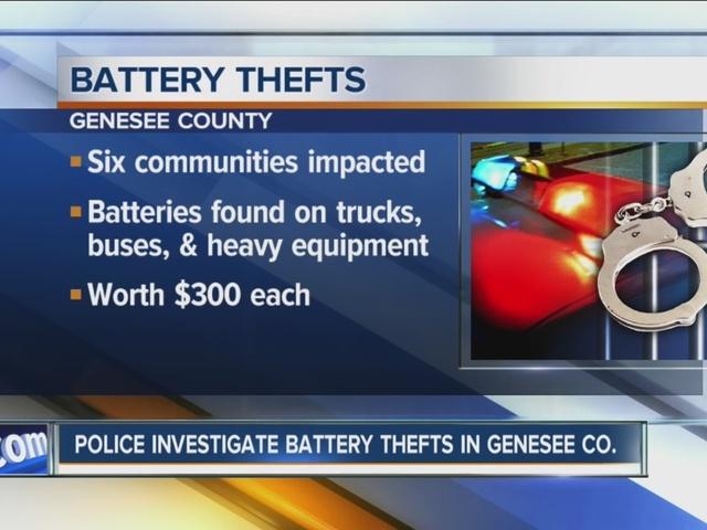 Deputies investigate rash of battery thefts