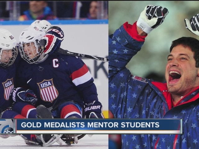 Gold medalists mentor students