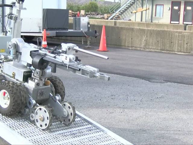 Erie County Bomb Squad uses robots