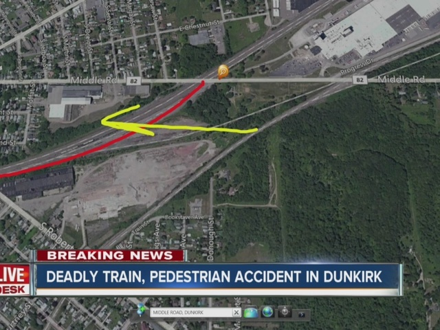 Pedestrian killed walking along train tracks in Dunkirk