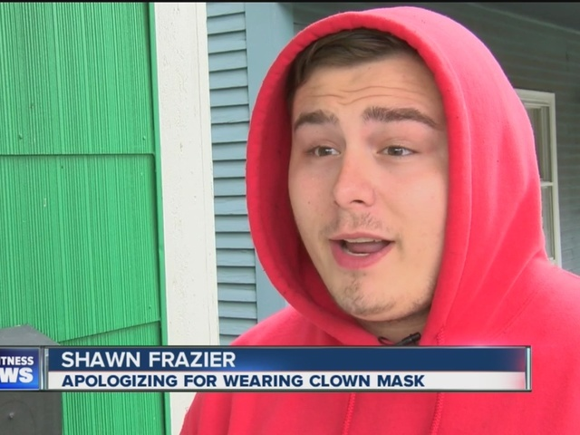 Man behind clown mask apologizes