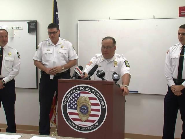 Niagara Falls Police Press conference