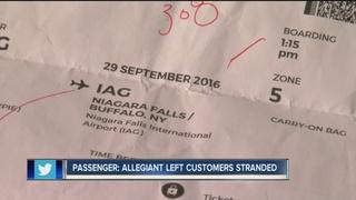 Allegiant passenger: we were left stranded