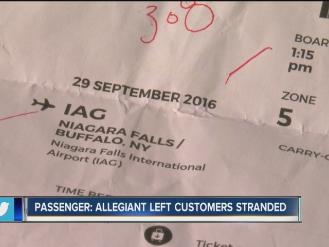 Allegiant Air passenger: we were left stranded in Syracuse