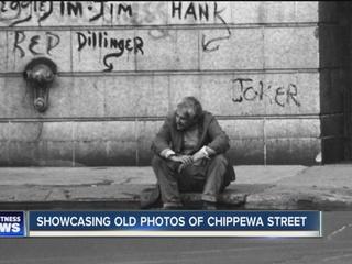 He's showcasing photos of Chippewa taken in 1975