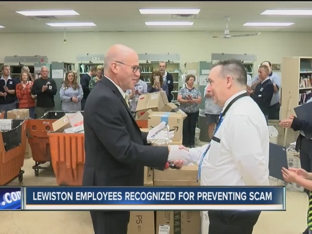 Lewiston postal employees recognized for preventing scam