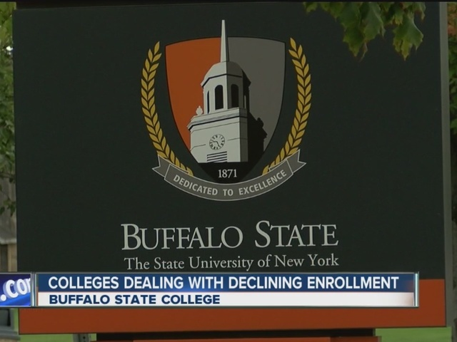 Low enrollment at Buffalo State has created a $4.7 million budget deficit