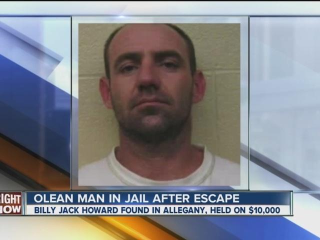 Olean man back in jail after escape