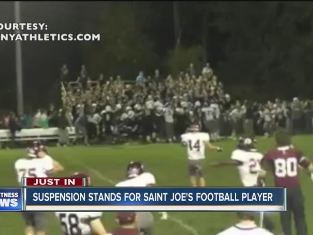St. Joe's appeal denied, suspension stands
