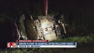 Driver charged with DWI after rollover crash