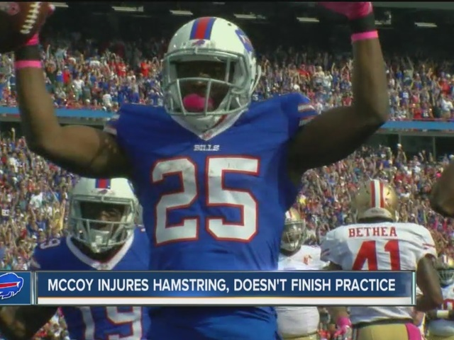Bills' LeSean McCoy doesn't finish Bills practice due to hamstring