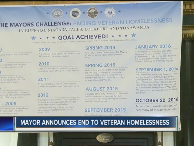 Buffalo Mayor Byron Brown announces end of Veteran homelessness