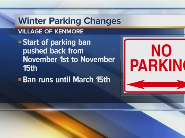 Kenmore adapts winter parking ban