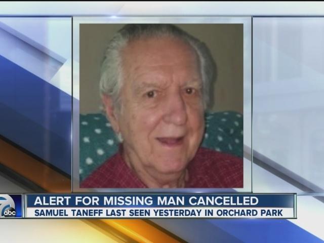 Missing alert canceled for Orchard Park man