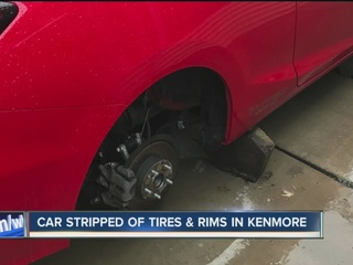 Tires stolen from cars in Kenmore