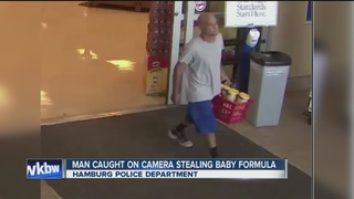 Police looking for man seen stealing formula