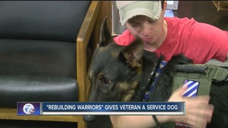 Charity gifts service dog to Army veteran