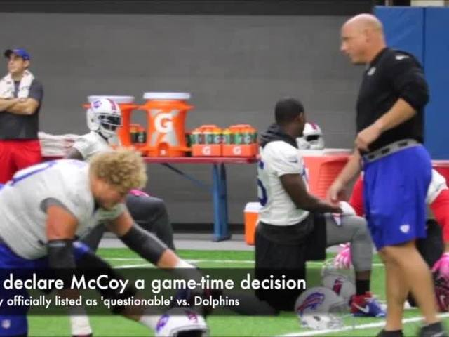 Joe B says Bills should rest McCoy if there's any sort of pain (Oct. 21, 2016)