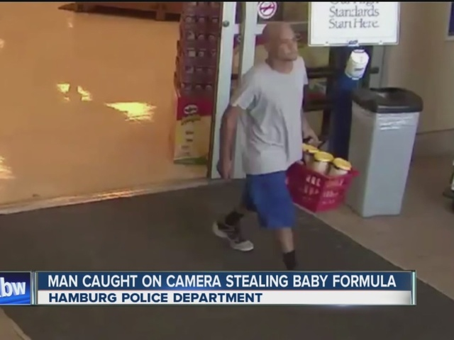 Man caught on camera stealing baby formula