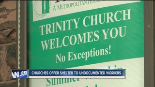Community churches offer shelter after raids