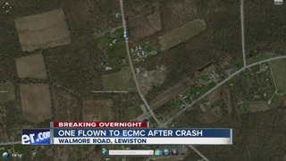 Crash on reservation sends one to hospital