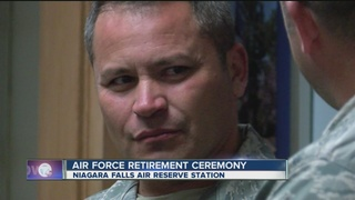 Air Force retirement ceremony for Lt. Ortiz