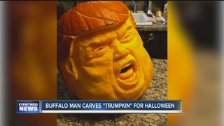 Buffalo pumpkin makes political statement