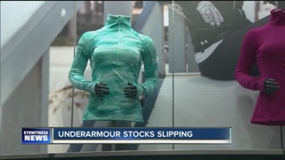 Under Armour stocks slipping