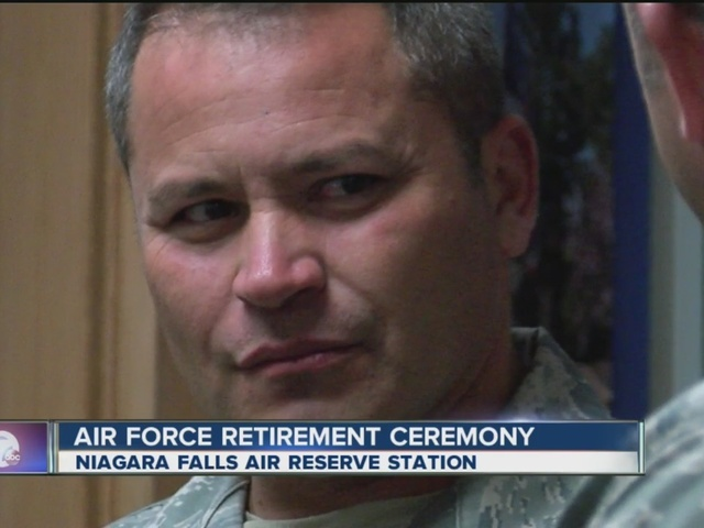Air Force retirement ceremony