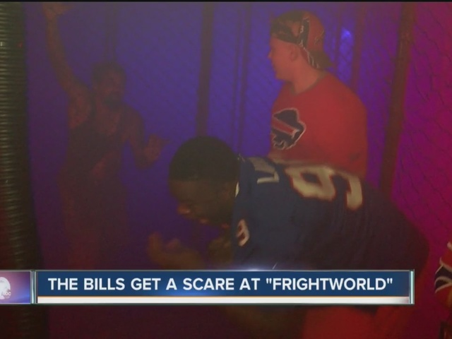 Bills rookies go through haunted house with local kids