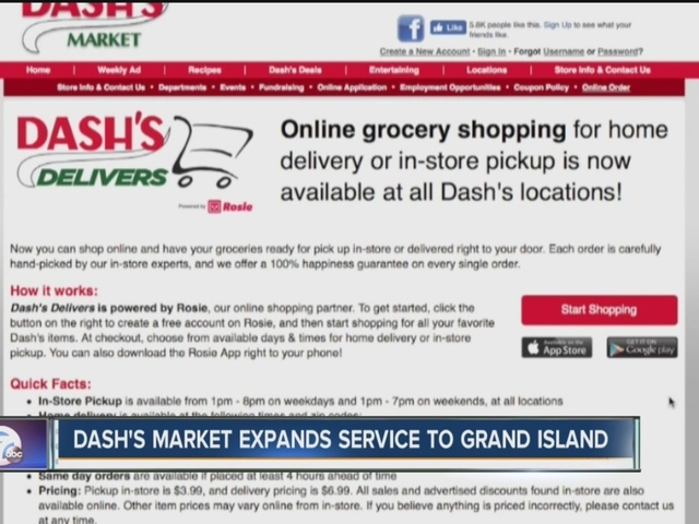 Dash's Delivery expands to Grand Island