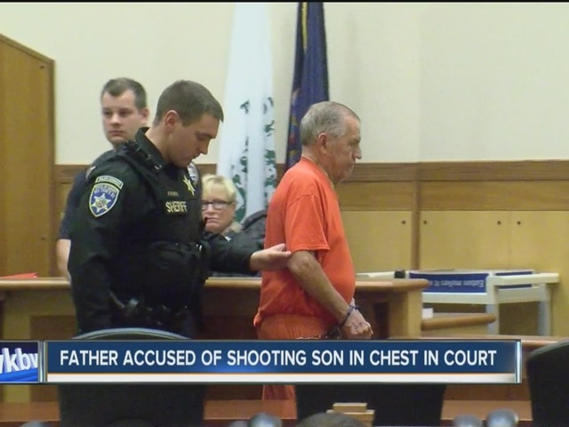 Father accused of shooting son in chest appears in court