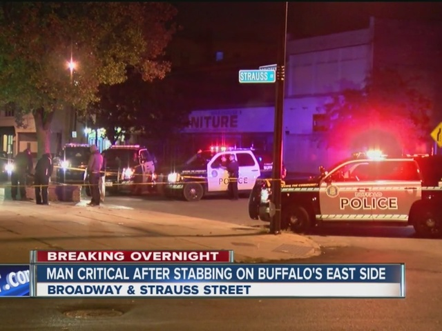 Man critical after stabbing on Buffalo's east side