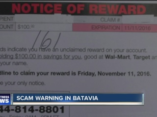 Police warn of new scam