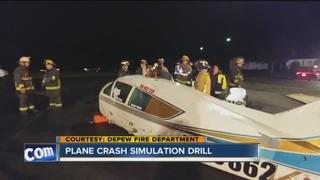Depew firefighters simulate plane crash