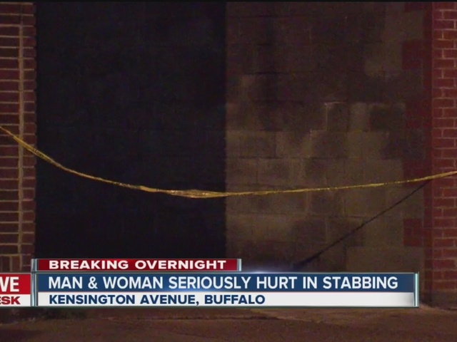 Man and woman seriously hurt in late night stabbing
