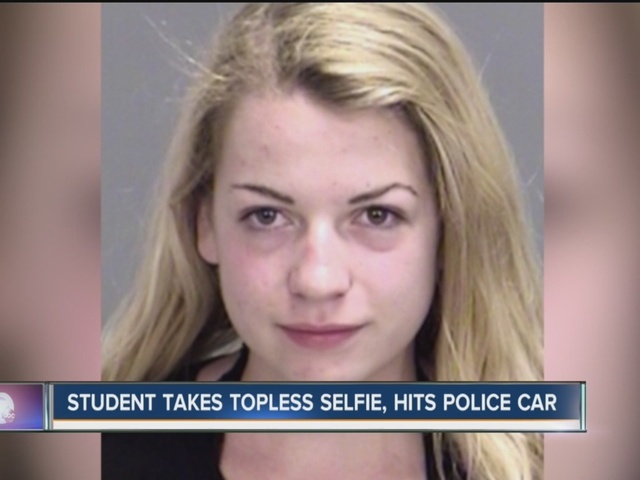 Police: Teen takes topless selfie while driving