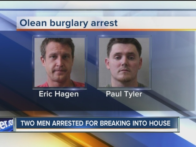 Two Olean men arrested for breaking into house