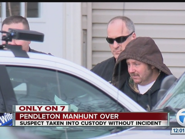 EXCLUSIVE VIDEO: Pendleton manhunt ends; suspect arrested at home
