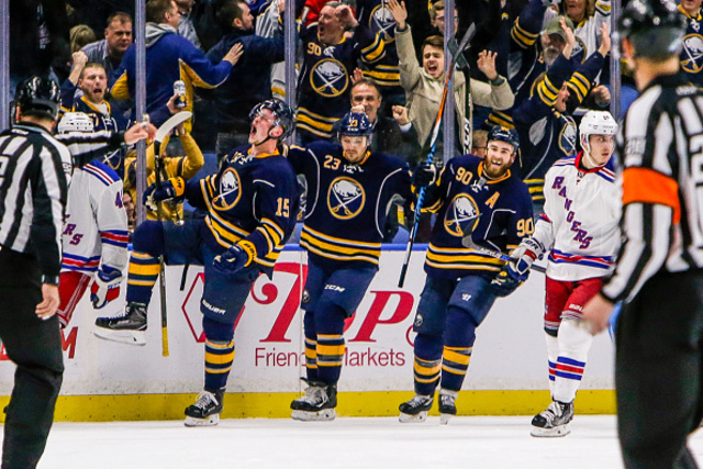 New York Rangers Fall 4-3 to Buffalo Sabres