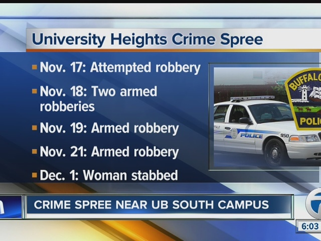 Woman stabbed in the latest armed robbery near UB South