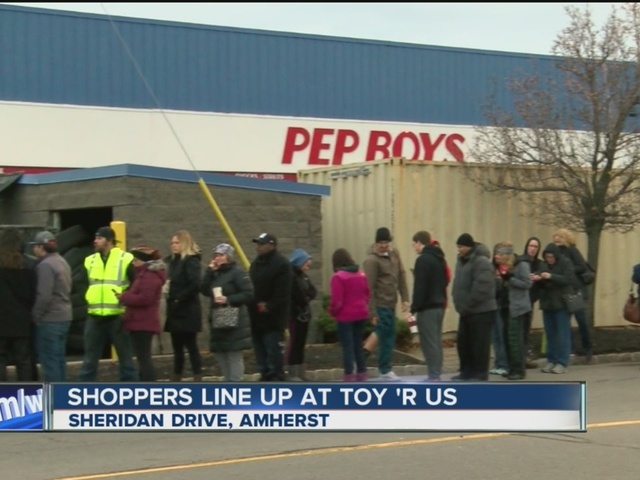 Shoppers line up for hottest holiday toy
