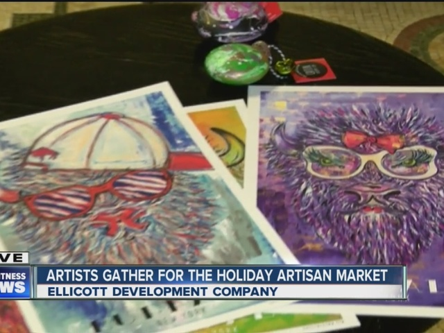 Artists gather at Ellicott Building for holiday Artists Market