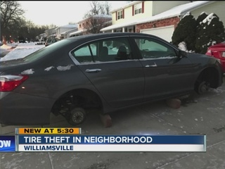 Tire thefts in Williamsville