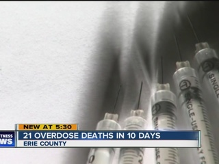 Spike in drug overdose deaths in Erie County